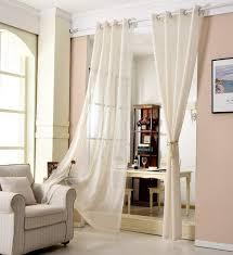 gardinen transparent mit ösen leinen optik creme 140x225 cm