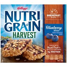 Kelloggs Nutri Grain Harvest Blueberry Bliss Breakfast Bars