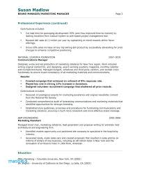 Brand Manager Resume Examples Sample Marketing Free Samples