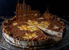 karamell maronen panna cotta torte