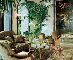 jungle themed living room love the greenery and the neutral tones