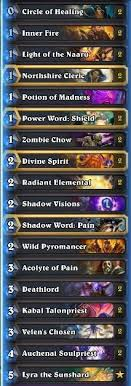 priest deck august 2017 tier list august 2017 best format decks hs decks and