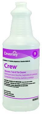 crew shower tub tile cleaner diversey