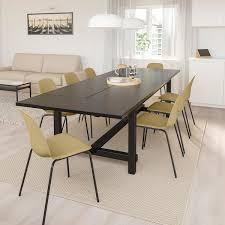 nordviken leifarne tisch und 6 stühle schwarz hell