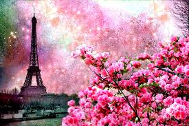 Flowers Spring Paris Romantic Stars Cherry Pink Lovely Nature Tower Pinkflowers Eiffel Blossoms Twinkle Flower Dreamy