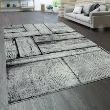 designer wohnzimmer teppich holz optik rustikal