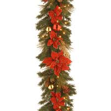 Ge Artificial Christmas Tree Replacement Bulbs by Ge 18 Ft Holiday Classics Artificial Garland With 50 C6 Clear