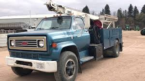 100 Chevy Service Truck 1988 C70 W Well Smeal Crane YouTube