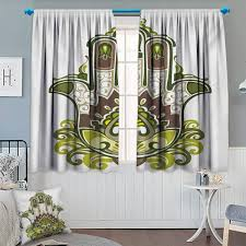 Amazoncom Chaneyhouse Hamsa Room Darkening Curtains Natural