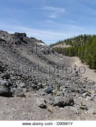 Lava beds at Newberry National Volcanic Monument Eastern Oregon