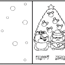 Printable Coloring Christmas Cards AZ Pages
