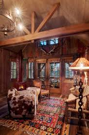 Rustic Cabin Lodge Area Rugs Family Room With French Doors Rug