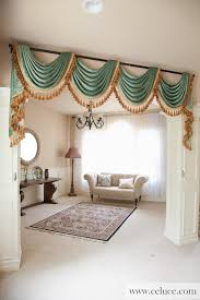 curtain valance ideas living room green chenille swag valance