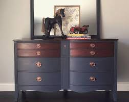 6 Drawer Dresser With Mirror by Vintage Dixie Dresser Etsy