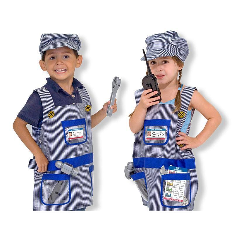 Melissa and Doug Train Engineer Role Play Costume Set - Age 3-6 Years