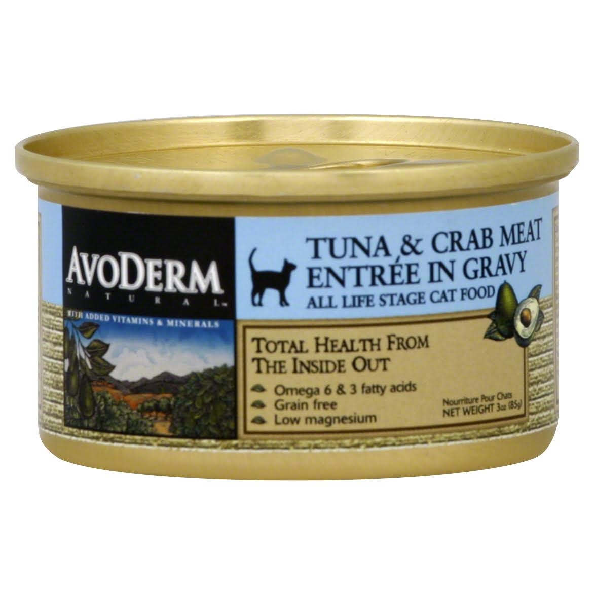 AvoDerm Naturals Canned Cat Food - Tuna and Crab Meat, 3oz