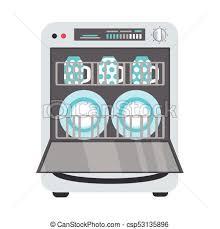 Flat Freestanding Dishwasher Dishwashing Machine