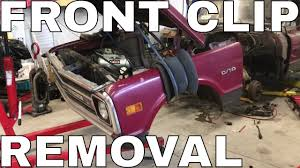 100 68 Chevy Truck Parts C10 Front Clip Removal By Yourself YouTube
