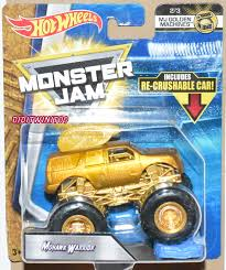 100 Mohawk Warrior Monster Truck HOT WHEELS 2019 MONSTER JAM MJ GOLDEN MACHINES MOHAWK WARRIOR