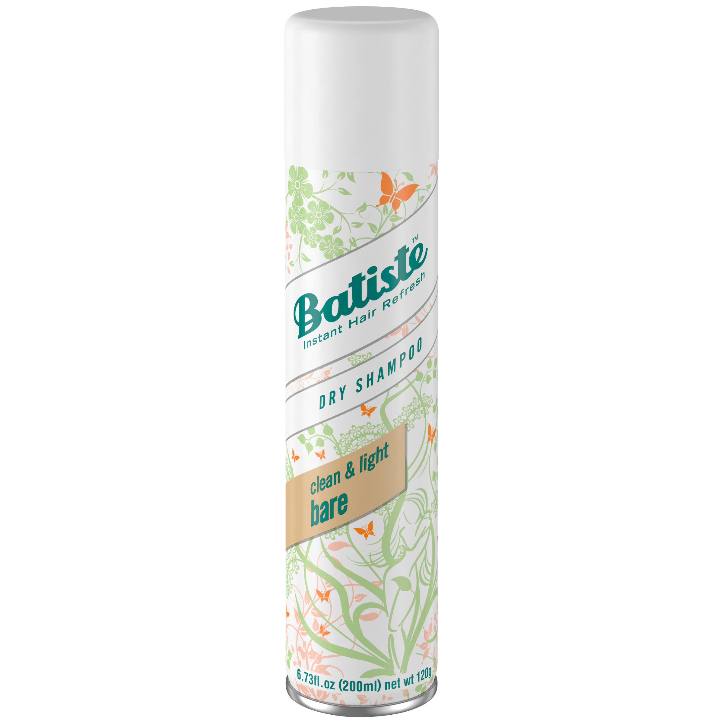 Batiste Instant Hair Refresh Dry Shampoo - Natural & Light Bare, 200ml