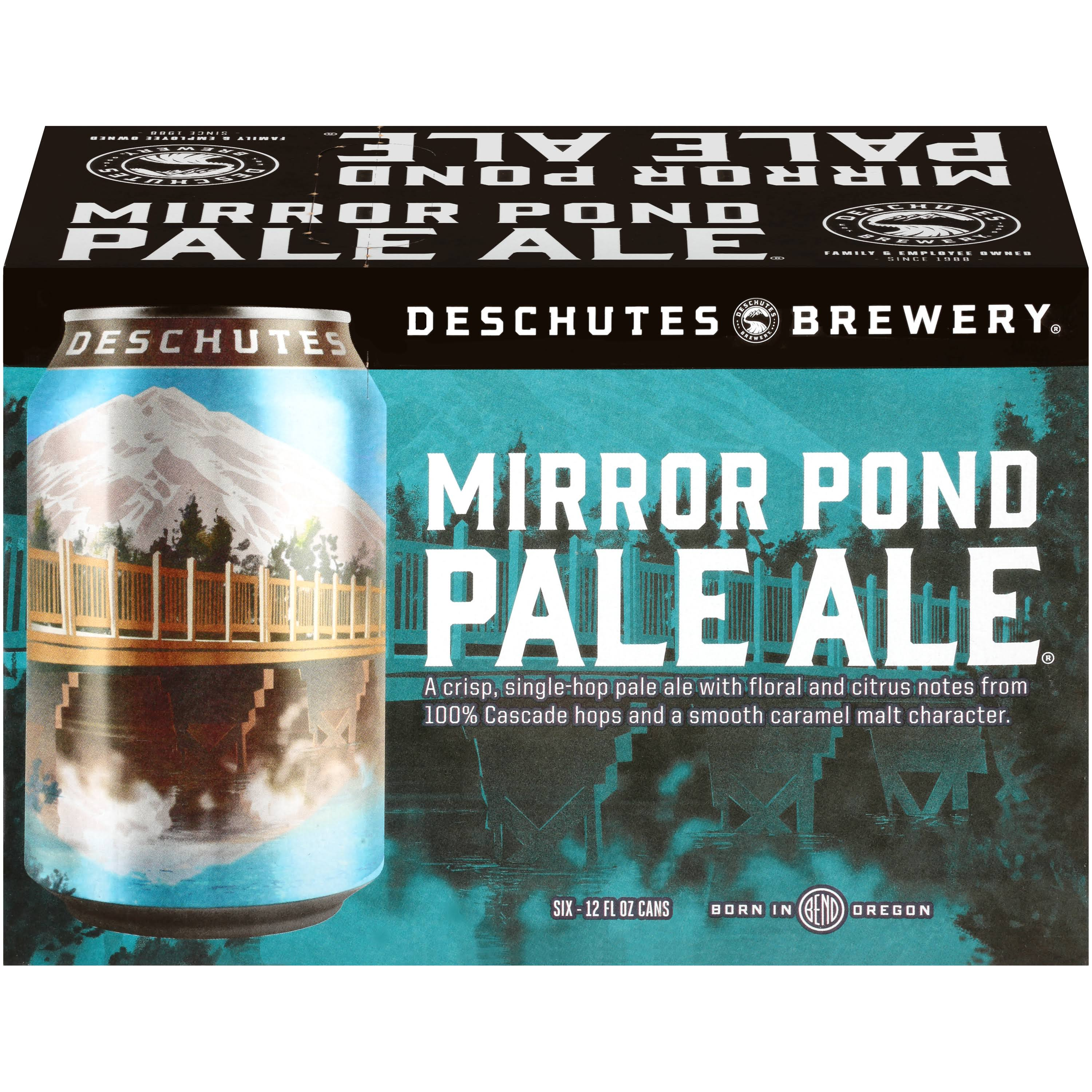 Deschutes Brewery Pale Ale, Mirror Pond, 6 Pack - 6 pack, 12 fl oz cans
