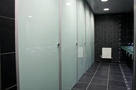 Bathroom Stall Dividers Edmonton by Bathroom Partitions Inside Glass Toilet Cubicles Glass Toilet