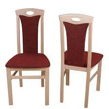 esszimmer stuhl in bordeaux rot lebrufe buche 2er set