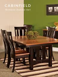 Monroe Amish Dining Room Set In 2019 | Cabinfield Amish Furniture ... John Thomas Select Ding Mission Side Chair Fniture Barn Almanzo Barnwood Table Tapered Leg Black Base Amish Crafted Oak Room Set 1stopbedrooms Updating Style Chairs The Curators Collection Stickley Six Ellis A Original Sold Of 8 Arts Crafts 1905 Antique Craftsman Plans And With Urban Upholstered Rotmans Marbrisa Available At Jaxco
