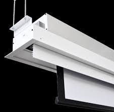 Ceiling Projector Mount Motorized by Vgitw059105mwb Ceiling Recessed Motorized Projection Screen Somfy