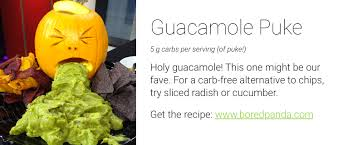 Vomiting Pumpkin Guacamole by 9 Not So Sweet Halloween Recipes