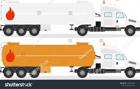 100 Fuel Trucks Truck Realistic Truck Shadow Stock Vector Royalty