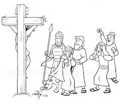 Coloring Page Easter Cross Death