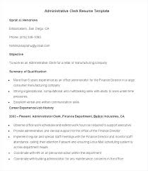 Resume For Office Job Example Resumes Examples Of Jobs Admin Objective Administrative Assistant Work