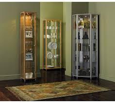 buy home 1 glass door corner display cabinet silver effect at