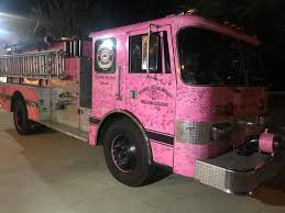 100 Pink Truck Fire Truck Bringing Awareness About Breast Cancer
