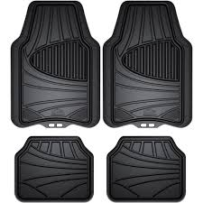 Armor All 4-Piece Black Rubber Interior Floor Mat - Walmart.com