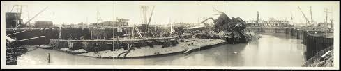 Pictures Of The Uss Maine Sinking by Library Of Congress Maine Salvage