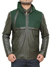 amazon com arrow hoodie leather costume jackets available in 4