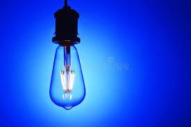 new led light bulb blue background stock photo image 54805246