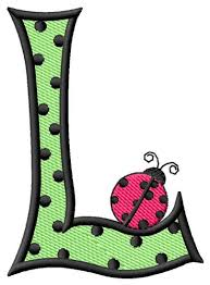 Ladybug Letter L Embroidery Design from Grand Slam Designs