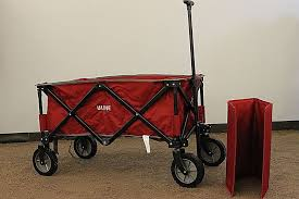 ULINE Red Polyester With Steel Frame Adult Packable Utility Wagon NEW IN BOX