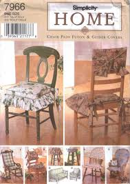 Chair Pads Pattern Rocking Chair Cover Stool Chair Back Uncut Simplicity  Home 7966