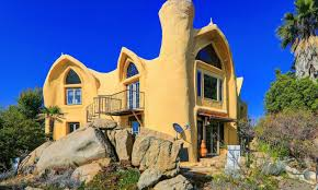 100 Flintstone House Dick Clark Cavelike Abode Searches For A Whimsical Buyer In Escondido Los