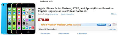 Walmart fering Launch Discounts on New iPhones $79 iPhone 5c
