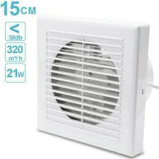 ventilator 150mm badlüfter mit rückstauklappe für bad und küche
