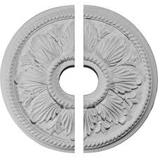 Split Design Ceiling Medallion by Fine Art Deco 18 1 8 In Fresh Bloom Bronze Gold And Copper