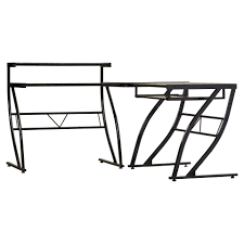 Omnirax Presto 4 Studio Desk Black Dimensions by Z Line Belaire Glass L Shaped Computer Desk