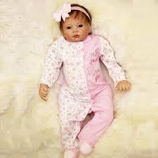 16 Handmade Lifelike Reborn Baby Girl Doll Silicone Vinyl Newborn