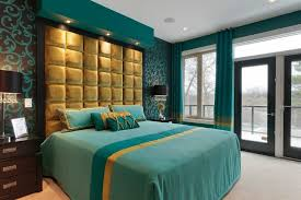 bedroom in teal and gold bedroom eclectic with bedroom ideas round