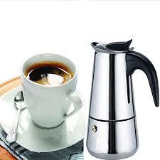 Generic 200 ML4 Cup Moka Coffee PotStainless Steel Stovetop Espresso Italian Maker Latte Percolator Stove Top Pot